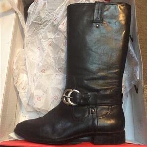 Ivanka Trump Black Leather Boots size 8